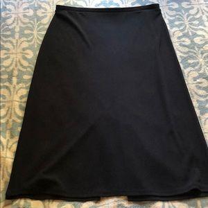 Black mid calf length skirt